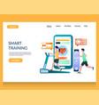 smart training website landing page design vector image