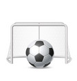 soccer ball football sport 3d icon vector image vector image