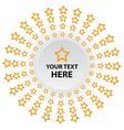 star circle background vector image vector image