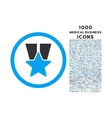 Star Medal Rounded Icon with 1000 Bonus Icons vector image vector image