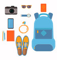 things that people take with them on a trip vector image vector image