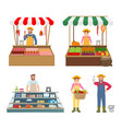 trade woman and man icons set vector image