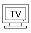 tv thin line icon television vector image vector image