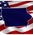united states iowa dark blue silhouette vector image vector image