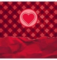Valentine card with heart And also includes EPS 8 vector image vector image