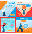 video tutorials online education business courses vector image vector image