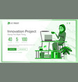 website design template business project vector image vector image