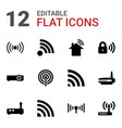 wifi icons vector image vector image