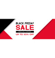 black friday sale promotional banner template vector image