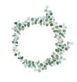 a wreath blue foliage save date clip art vector image