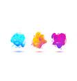 Abstract design set of color liquid shapes