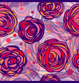 abstract roses flowers vector image vector image