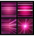 Abstract striped purple and violet backgrounds set vector image vector image