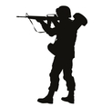 Aiming soldier Warriors Theme vector image
