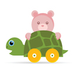baby toys turtle with teddy vector image vector image