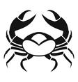 Big crab icon simple style vector image vector image