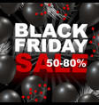 black friday sale design of balloon background vector image vector image