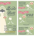 Bridal shower invitation setBridal dressbouquet vector image vector image