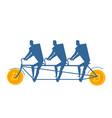 businessman at bitcoin bicycle tandem mining pool vector image vector image