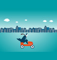 businessman driving a car in city vector image vector image