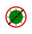 chaining a virus or prohibiting vector image vector image