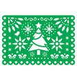 christmas papel picado design mexican xmas vector image vector image