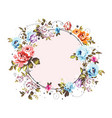 circle background with shabvintage flowers vector image