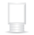 City light white billboard vector image vector image