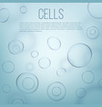 creative of life biology cell vector image