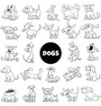 dog and puppies characters large collection vector image vector image