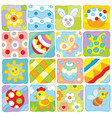 easter pattern in a children style vector image