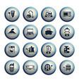 electronics supermarket icon set vector image vector image