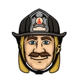 Firefighter or fireman in protective helmet vector image