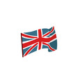 flat style waving union jack british flag vector image