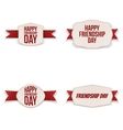 Friendship Day greeting Banners Set vector image vector image
