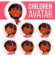 girl avatar set kid kindergarten indian vector image vector image