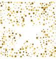 gold frame or border of random scatter golden vector image