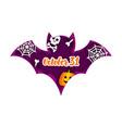 halloween bat paper cut concept vector image vector image