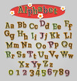 hand drawn cartoon alphabet vector image vector image