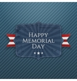 Happy Memorial Day festive Sign with Ribbon vector image vector image