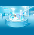 high technologies in healthcare concept vector image vector image