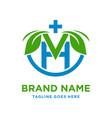 initial logo v natural vector image vector image