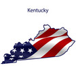 kentucky full american flag waving in wind vector image vector image