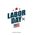 labor day in usa banner vector image vector image