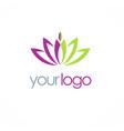 lotus flower spa logo vector image vector image