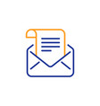 mail newsletter line icon read message vector image vector image