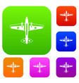 military aircraft set collection vector image vector image
