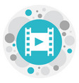of cinema symbol on reel icon vector image