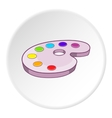 Palette of colors icon cartoon style vector image vector image