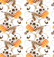 Pattern of stylized painting orange flowers vector image
